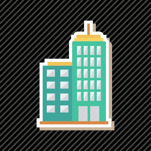 architect, building, city, estate, real, stockexchange, tower icon
