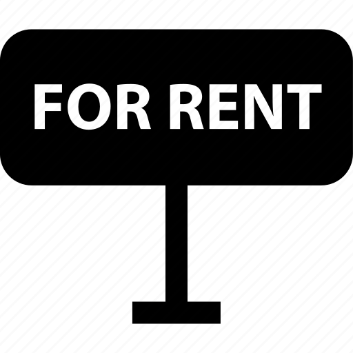 for, rent, sign icon
