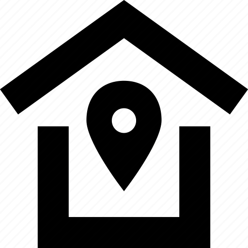 gps, house, location, roof icon