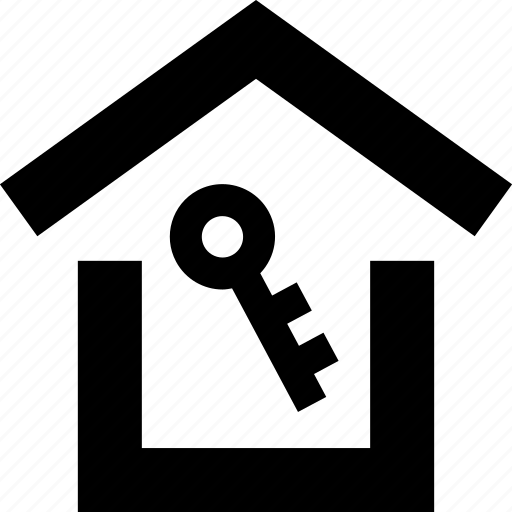 home, house, key, roof icon