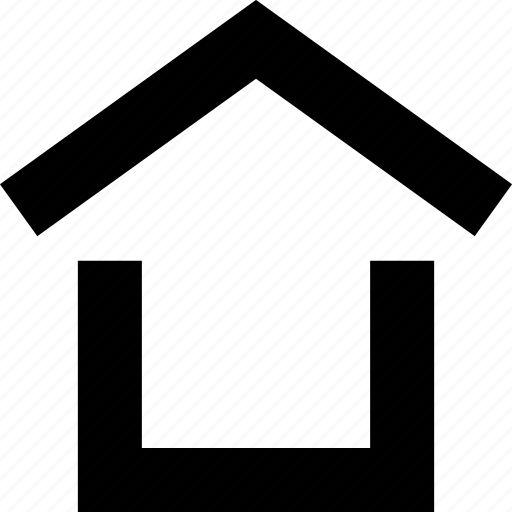 home, house, opening, roof icon