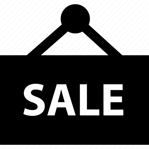 road, sale, sign icon
