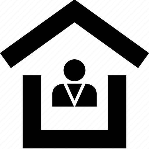 home, house, roof, user icon