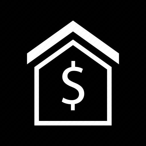 dollar, house, money, sign icon