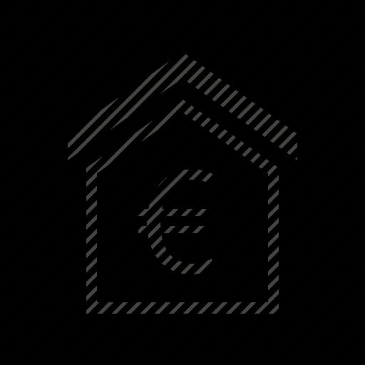 estate, euro, house icon