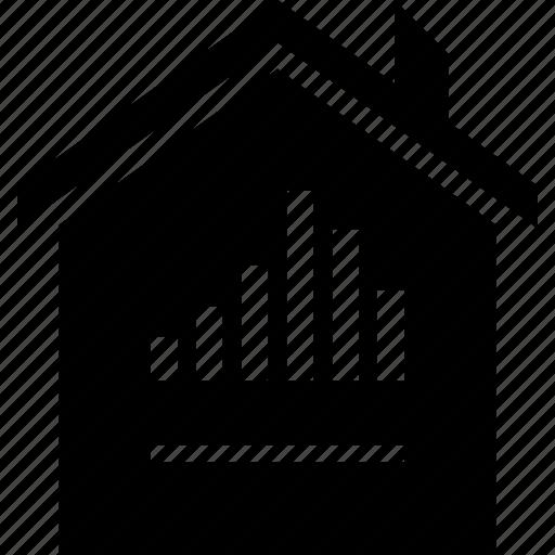 graph, home, house icon