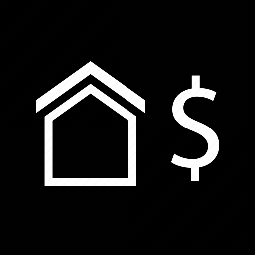 dollar, home, money, sign icon