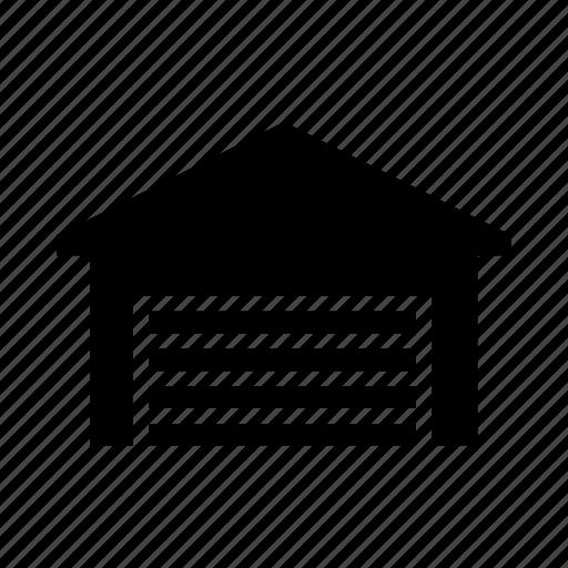building, garage, house, shop, storage icon