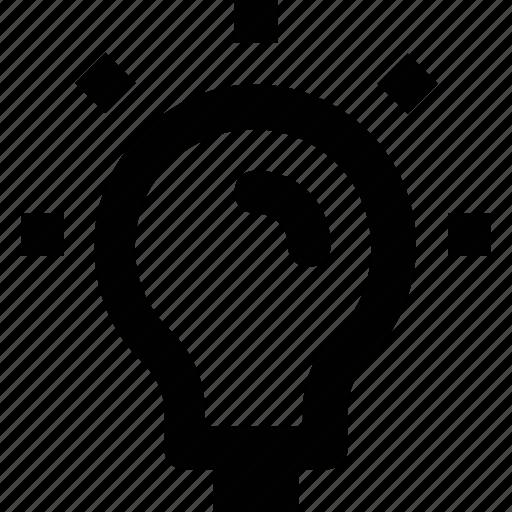 bulb idea, electric light, idea, incandescent, light bulb icon