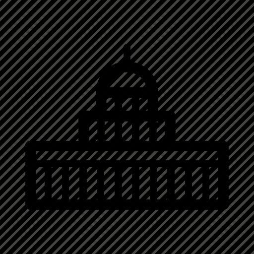 Building, capitol, government, inauguration, washington, election, politics icon