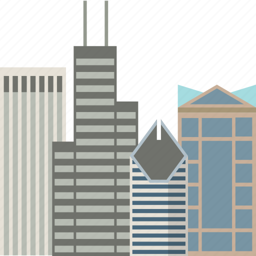 building, buildings, chicago, city, office icon