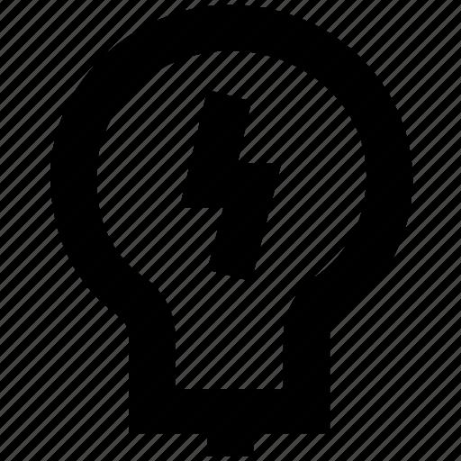 bulb, idea, illumination, light icon