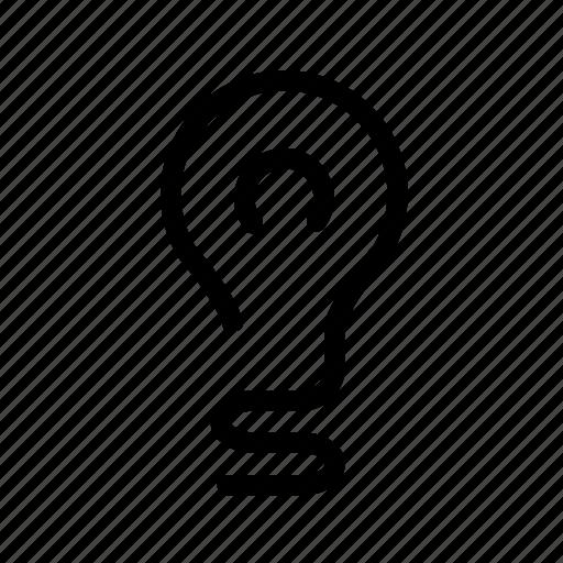 bulb, ecology, idea, lamp, light icon