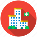 bulding, doctor, health, help, hospital, life, medic icon