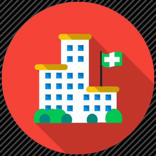 bulding, doctor, health, help, hospital, life, medic icon
