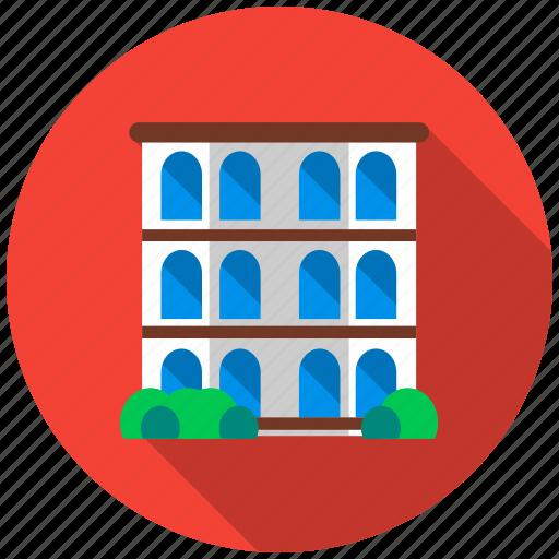 architect, balcony, building, house, housing, property, window icon