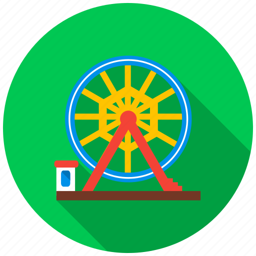 amusement park, big wheel, cash, fee, fun, mill, pleasure icon