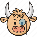 bull, cow, emoji, farm, smart