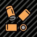 bullet, cartridge, powder, ammunition, shooting, hole