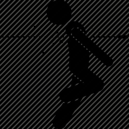 back, behind, bullet, man, shot icon