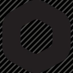 bulletfont, bulletpoint, decoretive, hexagone, listicon, smooth, stroke icon