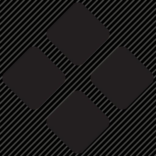 bulletpoint, decoretive, four, listicon, square, star, wingding icon