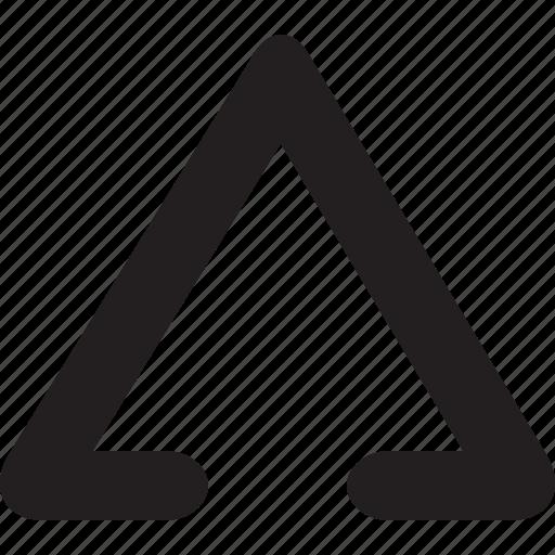 bulletpoint, decoretive, half, listicon, stroke, triangle, typography icon