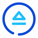 eject, mode, player icon
