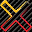 close, cross, math, remove icon