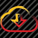 data, download, downloads, storage icon