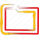 archive, document, folder, format icon