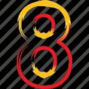 eight, number, phone theme, theme icon