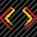 forward, left, move, navigate, right icon