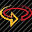 arrow, degrees, rotate, turn icon