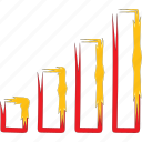 diagram, graph, signa, statistics icon
