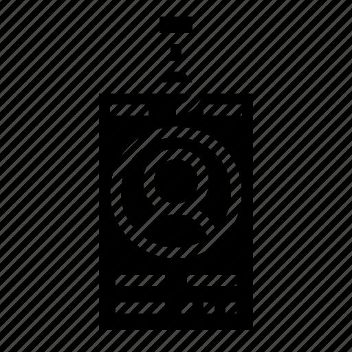 badge, card, document, identity, ididentification, profile icon