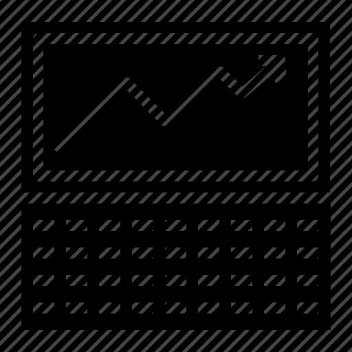 analysis, analytics, computer, graph, marketing, screen icon