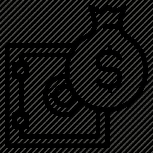 bag, deposit, money, safe, strongbox icon