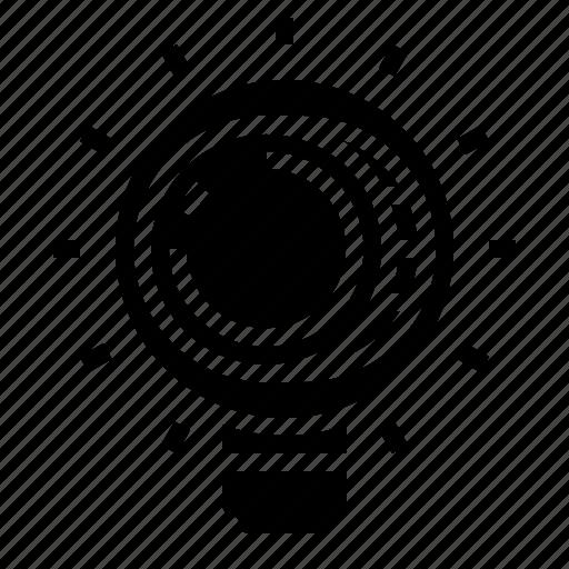 bulb, idea, money icon