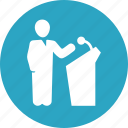 business, businessman, conference, presentation icon