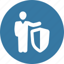 business protection, safe, security, shield icon