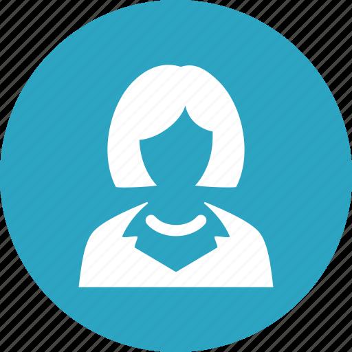 businesswoman, teacher, user, woman icon