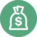 banking, finance, investment, loan, money bag icon