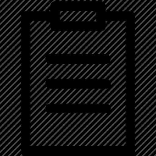 attribute, business, clipboard, paper, professional icon