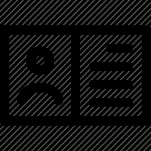 attribute, business, contact, professional, profile icon