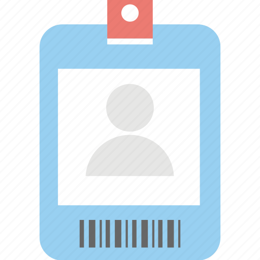 i.d, identity, membership id, name tag, student card icon