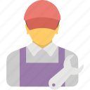 engineer, mechanic, repair service, repairman, worker icon