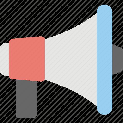 advertisement, announcement, loudspeaker, megaphone, social media icon