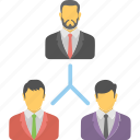 businessman, leader, organization, team, teamwork icon