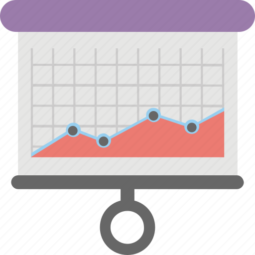 business analysis, business graph, flipchart, graphic presentation, statistics icon